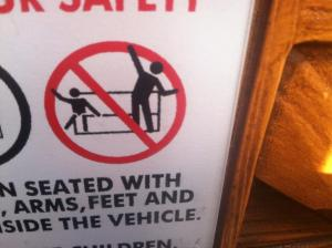 There is NO INTERPRETIVE DANCE allowed on Thunder Mountain Railroad.